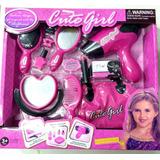 Set De Belleza De Juguete Para Nenas Secador Cepillo Cartera
