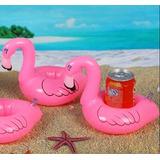 Inflable Salvavidas Mini Flamingo Portavaso Alberca Piscina
