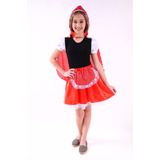 Fantasia Carnaval Menina Chapeuzinho Vermelho