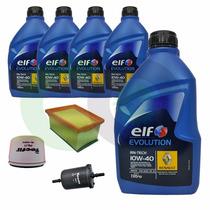 Kit Troca De Oleo Completa 10w40 Total Elf Duster 1.6 16v