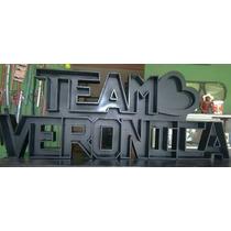 Letrero Te Amo + Nombre Letras De Madera Mdf 3d