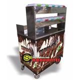 Carrinho Tapioca 10 Porta Recheios Caixa Termica - Adesivado