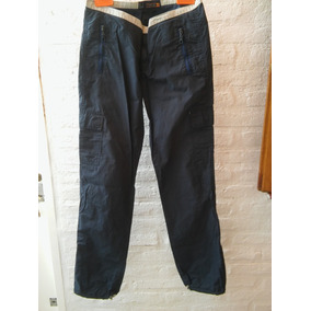 Pantalon Cargo Azul Mujer T: Medio