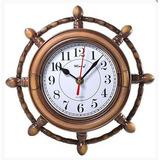 Relógio De Parede Timão, Náutico Motivo Madeira Quartz