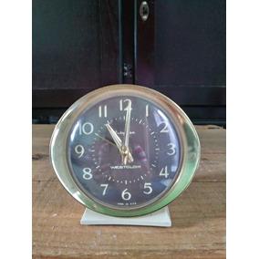 Reloj Antiguo Westclox Despertador De Cuerda De Mesa Vintage