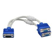 Cable Splitter Multiplicador Y Vga 1 Entrada 2 Salidas
