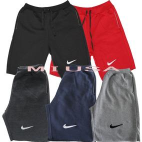 Kit 4 Bermudas Moleton Nike Masculina Academia Shorts Balada