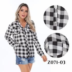 Blusa Camisa Feminina Manga Longa Xadrez Fashion Tendencia