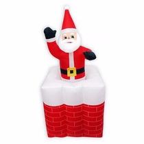 Papai Noel Natal Eletrico Inflavel Animado Sobe E Desce