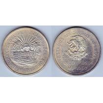Moneda Nueva De 5 Pesos Ferrocarril Del Sureste Ley 0.720