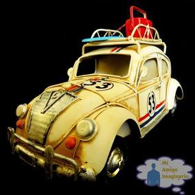 Herbie Vocho Escala Volkswagen Vintage Metal Portaretrato