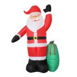 Inflable 2.40 M Alto Santa Claus Saludando