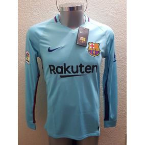 Nuevo Jersey Playera Barcelona Visita Manga Larga Messi