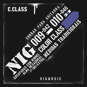 N1643 Cordas Encordoamento Nig Color Azul 010 Para Guitarra