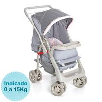 Carrinho De Bebê - Galzerano - Pegasus - Cinza Rosa