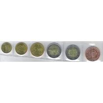 Uruguai 1; 2; 5; 10 E 50 Pesos 2011/15, Fc, Bimetálica,fauna