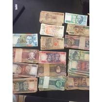 Lote De Cédulas Antigas De Dinheiro Brasileiro - 72 Notas