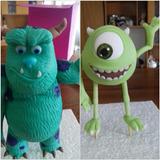 Adorno Monster Inc En Porcelana Fría Para Torta