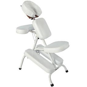 Cadeira Massagem Shiatsu Quick Massage Dobrável Branco Legno