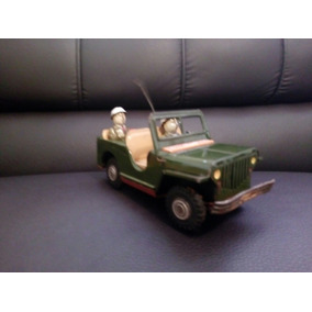 Carrito De Lamina Japones ,antiguo Jeep De Fricción