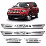 Kit Soleira Porta Aço Inox Escovado Jeep Novo Compass 2017