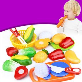 Horti Fruti Legumes E Fruta De Brinquedo P/ Cortar 12 Peças