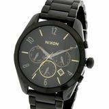 Reloj Nixon Bullet A3661616 100% Acero Empavonado Cronografo