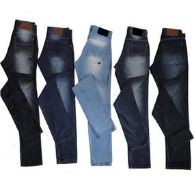 Kit 5 Calças Jeans Skinny Com Elastano Masculina Revenda