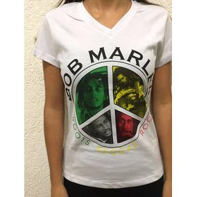 Camiseta Feminina Bob Marley - Reggae - Simbolo Da Paz