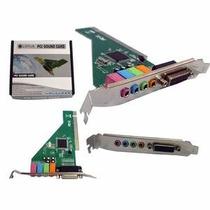 Placa De Som Pci Chipset C-media Cmi8738 4 Channel Sound