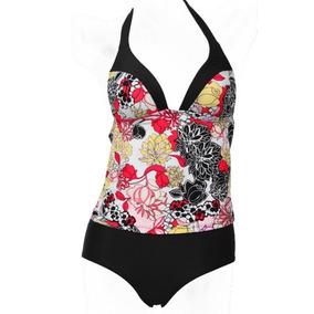 Traje De Baño Completo Push Up Mujer, Bikini Tankini Short