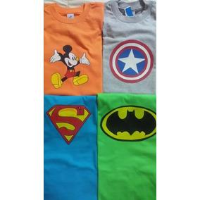 Camisas Para Niños Pintadas A Mano De Superheroes Ovejitas