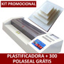 Kit Plastificadora De Documentos A3/a4/ofício 220v + 300 Po