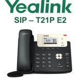 Teléfono Ip Yealink T21p E2 Con Pantalla, Poe, 2 Cuentas Sip