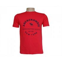 Camisa Camiseta Abercrombie & Fitch Vermelha Unissex