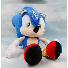Boneco Pelúcia Super Sonic The Hedgehog! Antialérgico 30cm