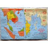 Mapa Guía Turística Isla Phuket Tailandia - Inglés Completo