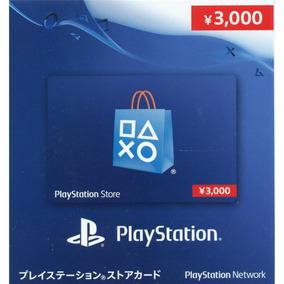 Cartão Psn Japonesa 3000 Ienes Três Mil Yenes Japan Card