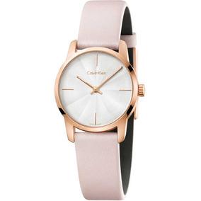 Reloj Calvin Klein City De Piel Color Rosa De Dama K2g236x6