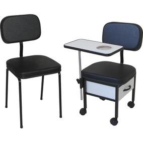 Cadeira Cirandinha Manicure + Cadeira Cliente Mod St