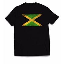 Camiseta Estampa Reggae - Bandeira Jamaica