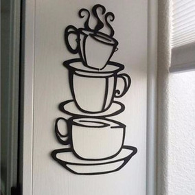 Sticker Vinil Decorativo De Pared Tazas De Café