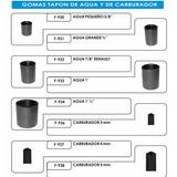 Gomas Tapon De Agua Y Carburador Ford/chevrolet/dodge