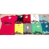 Kit C/10 Camisetas T-shirts Femininas Hollister R$179,00