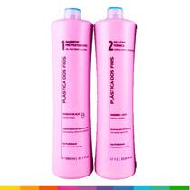 Plastica Dos Fios Progressiva Shampoo + Ativo 2 X 1l + Frete