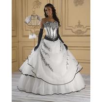 Vestido Novia Quince Strapless Bordado Corset Importado