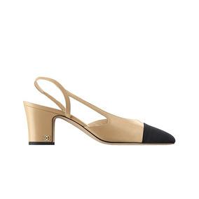 Sapato Salto Chanel Couro Feminino - Pronta Entrega