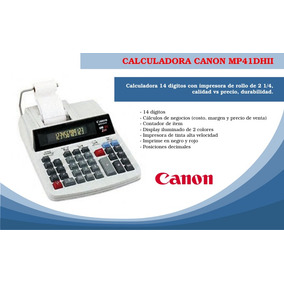 Calculadora Canon Mp41dh 14 Digitos