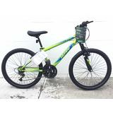 Bicicleta Huffy Rodada 24, 18 Vel., Color Verde