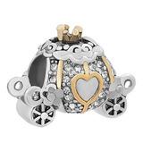 Lovelyjewelry Cinderella Carriage Charm Beads Para Las